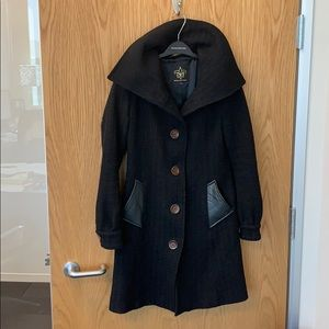 Mackage Wool Coat - Black, Size S